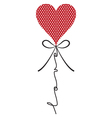 Heart balloon with wording vector image
