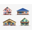Houses 2 color vector image