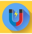 icon horseshoe magnet Symbol magnetism vector image vector image