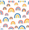 kids rainbow pattern seamless repeating hand vector image vector image