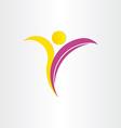letter y healthy man yoga symbol vector image