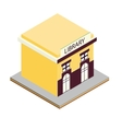 Library building isometric 3d icon vector image vector image