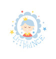 little prince print colorful hand drawn vector image vector image