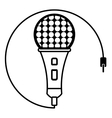 microphone music karaoke sound outline vector image vector image