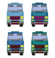 Minibus front view vector image vector image
