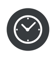 Monochrome round clock icon vector image vector image