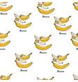 natural coloured bananas pattern vector image vector image