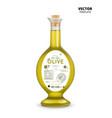 natural extra virgin olive oil glass bottle vector image