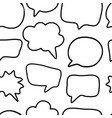 Outline hand drawn speech bubble seamless pattern vector image