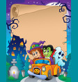 parchment with halloween topic 7 vector image