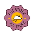 Pet shop symbol logo vector image