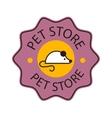 Pet shop symbol logo vector image vector image