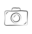 Photo camera doodle icon 1 vector image vector image