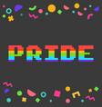 pixel pride vector image vector image