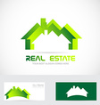Real estate residential logo vector image vector image