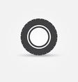 road tire icon - transportation minimal symbol vector image
