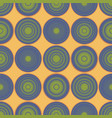 seamless gradient rounds yellow pattern vector image vector image