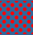 seamless pattern with red polka dots vector image vector image