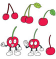 set of cherry vector image vector image