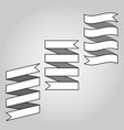 set of ribbon baner icon vector image vector image