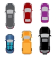Set of six vehicles Coupe convertible sedan vector image vector image