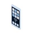 smartphone isometric icon vector image vector image