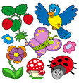 spring time nature collection vector image vector image