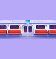 subway train car metro wagon interior vector image vector image