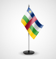 Table flag of Central African Republic vector image vector image