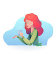 textural of a redhead girl vector image