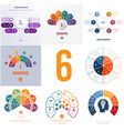 universal templates elements infographics vector image vector image