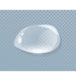 Water Liquid Drop Isolated on Transparent vector image