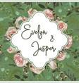 wedding vertical floral invitation invite card vector image vector image