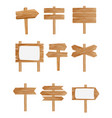 set of different wooden street vector image