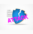 data security attack theme vector image