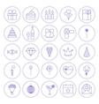 Line Circle Celebration Icons vector image