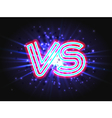 Versus neon logo on background with abstract light vector image