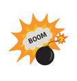 pop art bomb pow with bubble speech design vector image