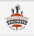 Retro Happy Halloween Badge Sticker Label Design vector image