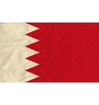 Bahrain paper flag vector image vector image