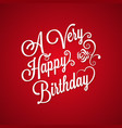 birthday vintage lettering background vector image vector image