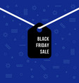 black friday sale hanging label vector image vector image