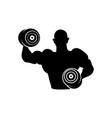 bodybuilder barbell icon design template vector image