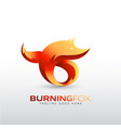 burning fox logo template for your company brand vector image vector image