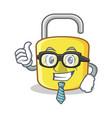 businessman yellow lock character mascot vector image