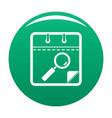 calendar search icon green vector image vector image