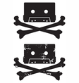 cassette skull icon vector image vector image