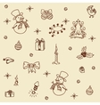 Christmas set seamless vector image vector image