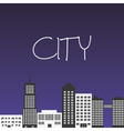 city landscapes with buildings and text eps10 vector image