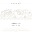 Cityscape graphic template Modern city Tr vector image vector image